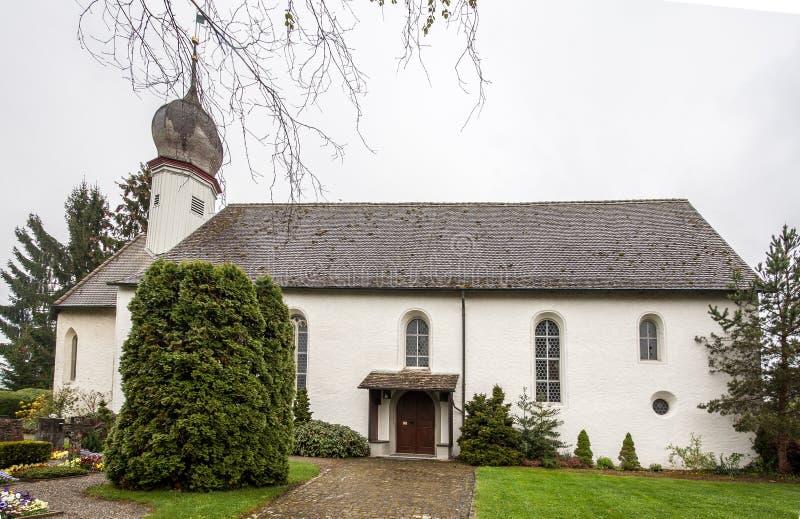 Kasteelkerk Stein am Rhein Zwitserland royalty-vrije stock foto