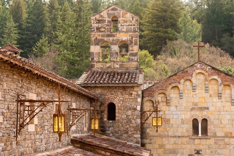 Kasteelwijnmakerij in Napa-Vallei Californië royalty-vrije stock afbeeldingen