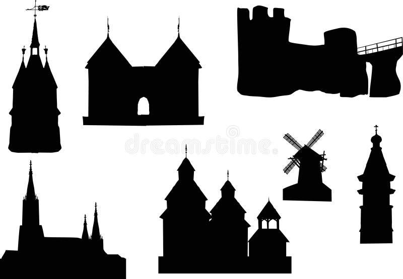 Kastelen en torens vector illustratie