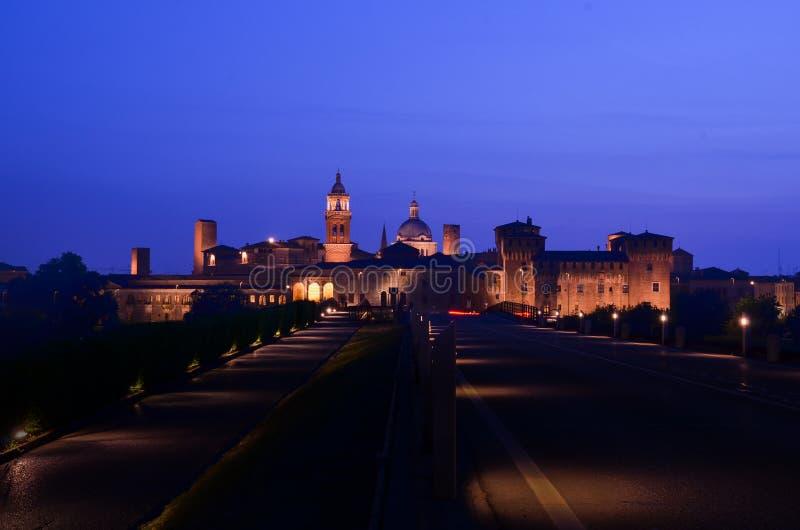 Kastelen van Mantova in Italië royalty-vrije stock afbeeldingen