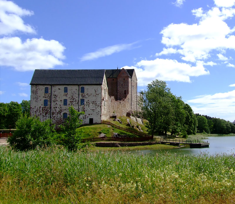 Kastelholm Schloss stockbild