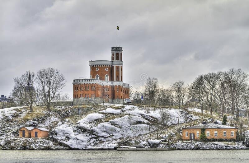 kastellholmen stockholm arkivfoto