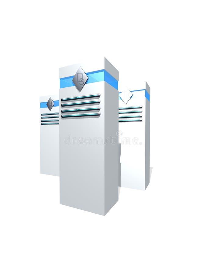 Kasten des Servers 3d stock abbildung