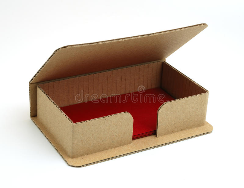 Kasten für Visitenkarten. stockfotografie