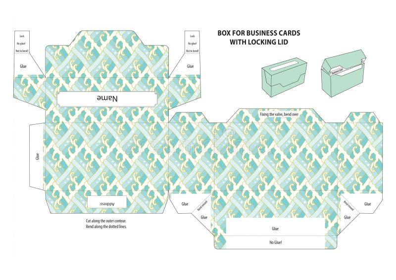 Kasten für Visitenkarten stock abbildung