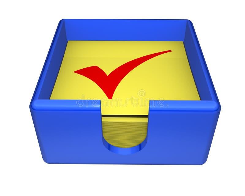 Kasten klebrige Checks stock abbildung
