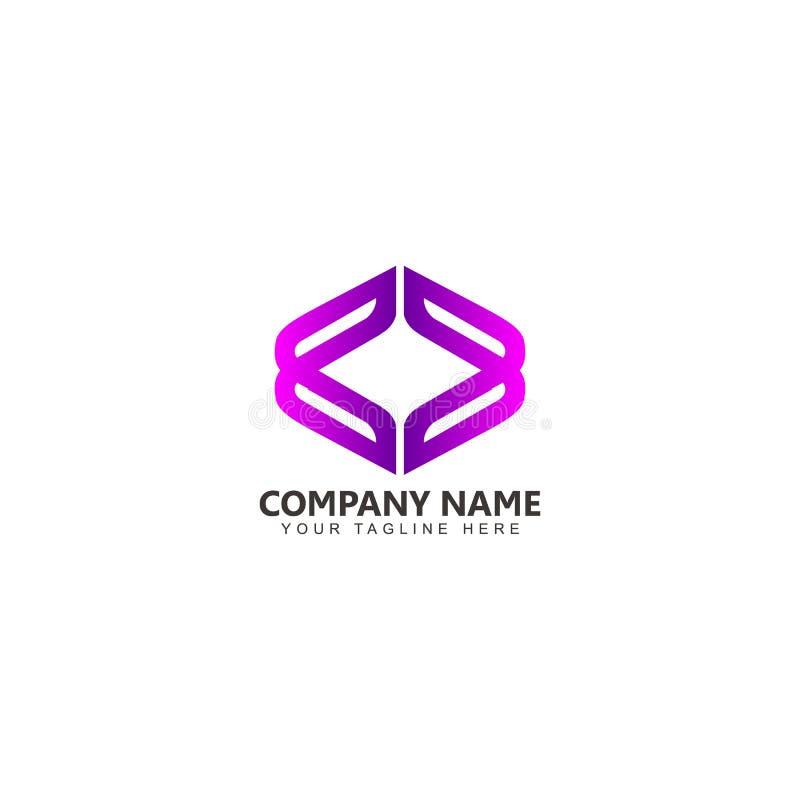 Kasten Logo Vector Design Inspiration lizenzfreie abbildung