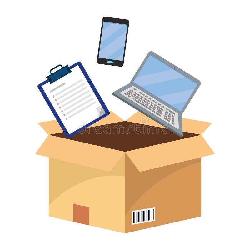 Kasten mit Checkliste stock abbildung
