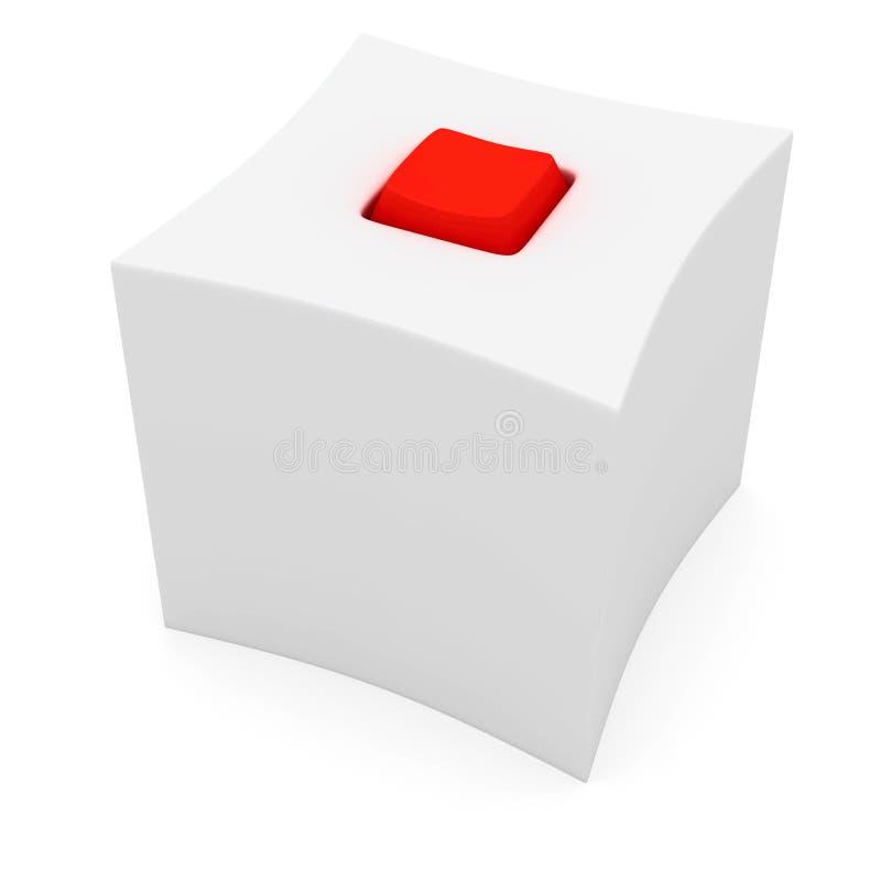 Kasten mit roter Taste lizenzfreie abbildung