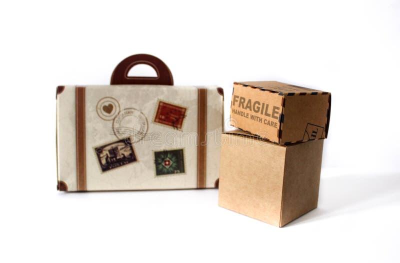 Kasten und Gepäck für Sonderfahrt lizenzfreie stockfotografie