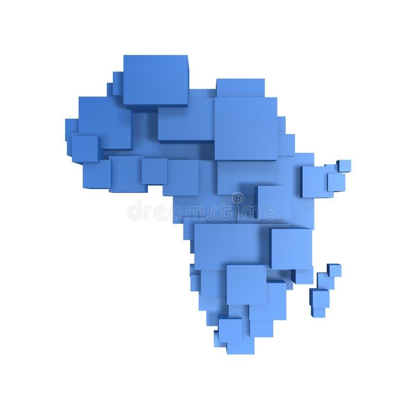 Kastenkarte von Afrika stock abbildung
