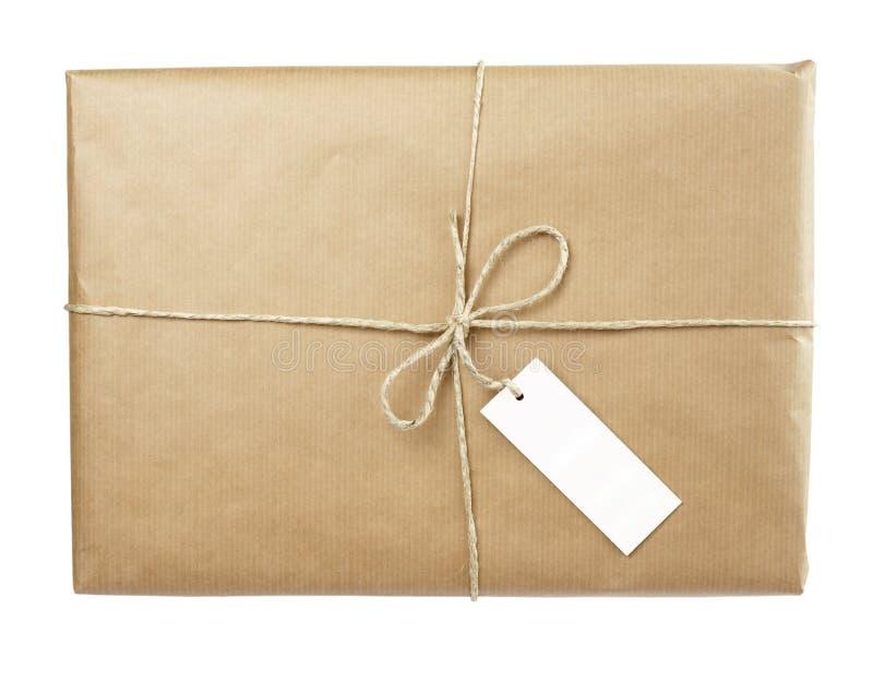 Kastenpaketverpackung stockbild