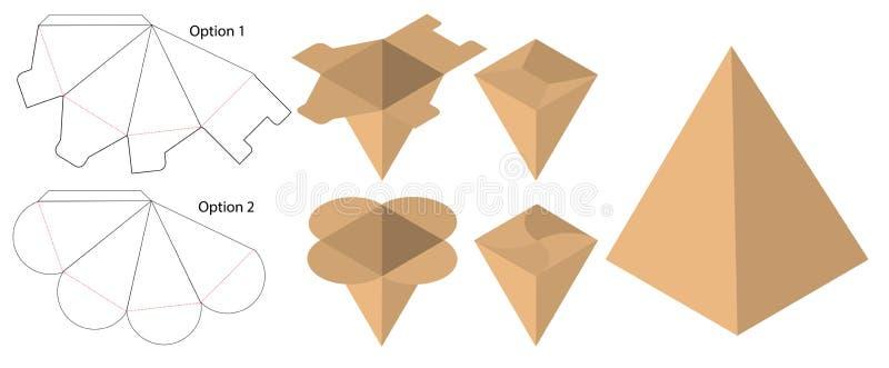 Kastenverpackung stempelschnitt Schablonendesign Modell 3d lizenzfreie abbildung
