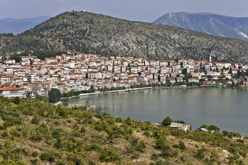 Kastoria traditional city at Greece stock photo