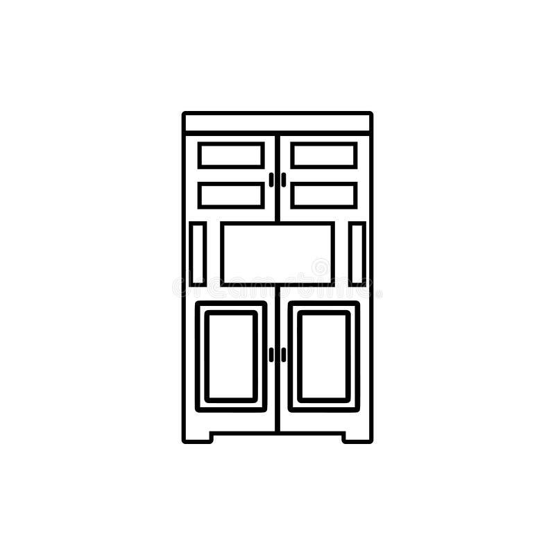 Kastpictogram Element van Meubilair voor mobiel concept en webtoepassingenpictogram Dun lijnpictogram voor websiteontwerp en ontw stock illustratie