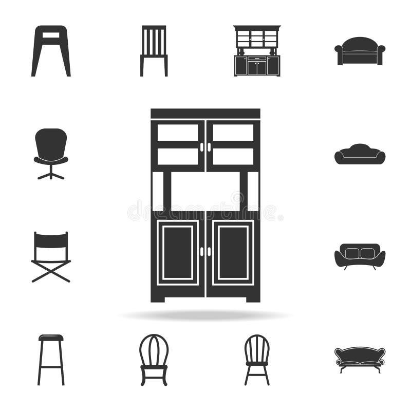 Kastpictogram Gedetailleerde reeks meubilairpictogrammen Het grafische ontwerp van de premiekwaliteit Één van de inzamelingspicto vector illustratie