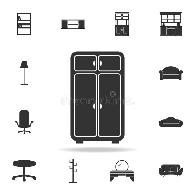 Kastpictogram Gedetailleerde reeks meubilairpictogrammen Het grafische ontwerp van de premiekwaliteit Één van de inzamelingspicto stock illustratie