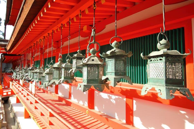 Kasuga Taisha przybytek Nara park Nara Japonia fotografia stock