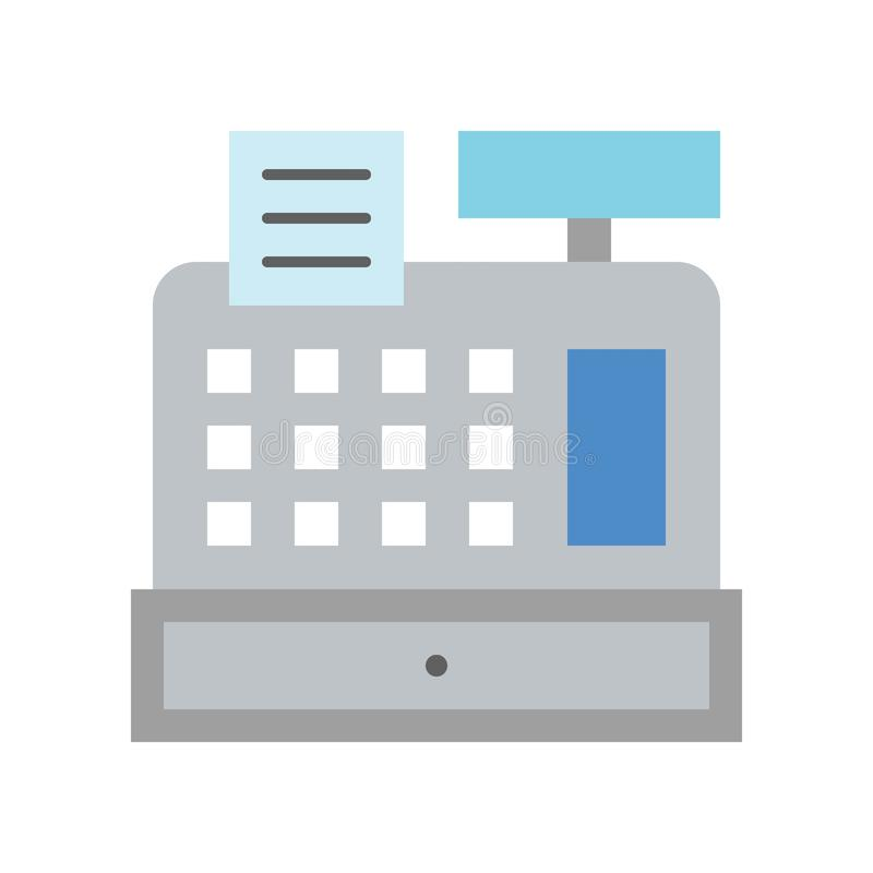 Kasy maszyna, banka budynek, bank i pieniężny powiązany, ilustracji