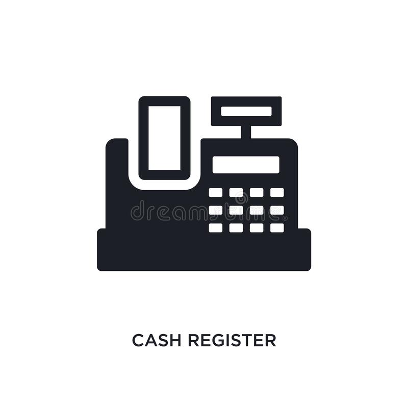 Kasy odosobniona ikona prosta element ilustracja od płatniczych metody pojęcia ikon kasa logo editable znak royalty ilustracja