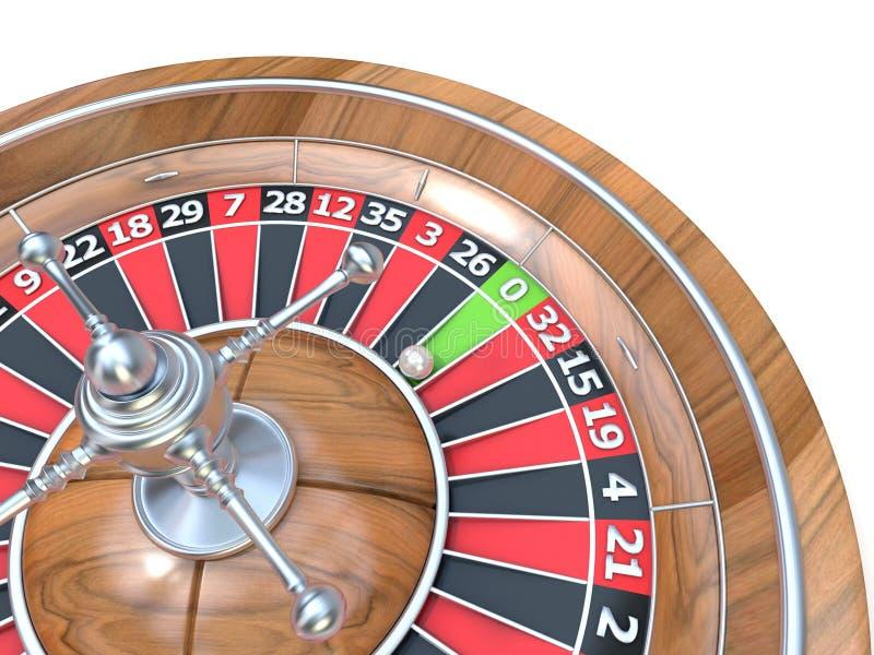 kasyna układ scalony grzebaka rulety serie 3d ilustracja wektor