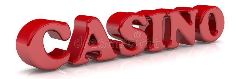 kasyno Czerwony słowo ilustracja wektor