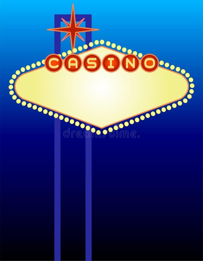 kasyno szyldowy Vegas ilustracji