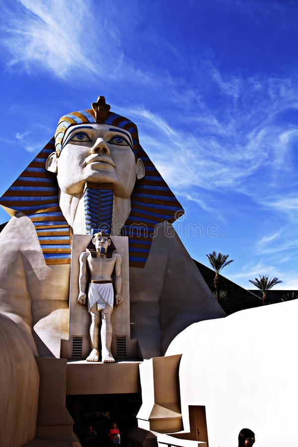 kasynowa hotelowa Luxor sfinksa statua obraz stock