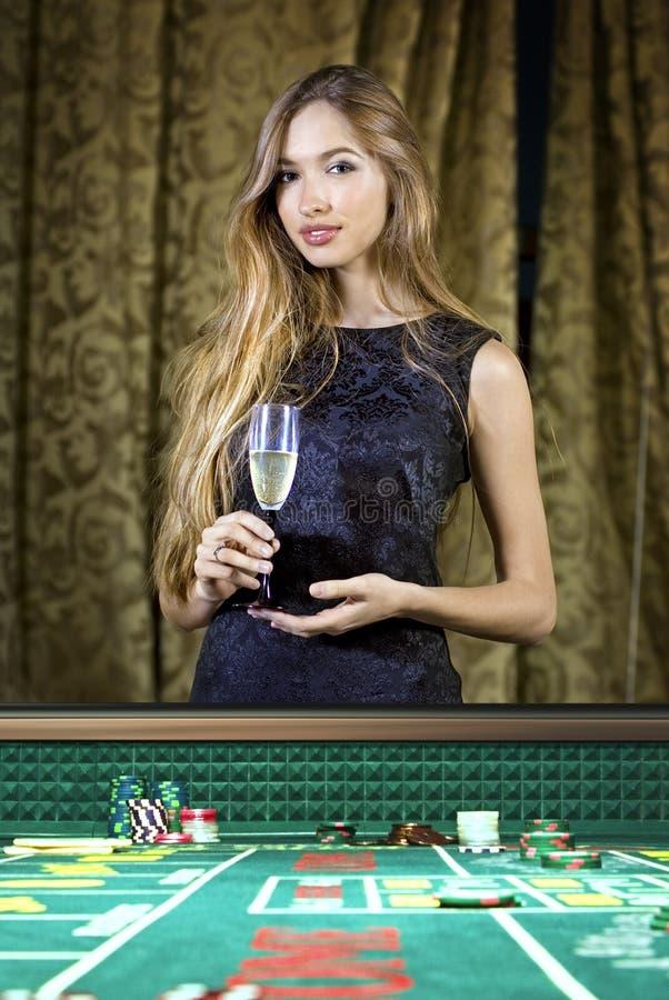 kasynowa kobieta obraz royalty free