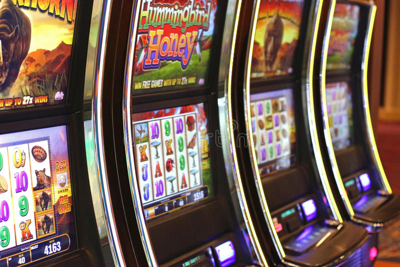 Kasynowi automat do gier obrazy royalty free