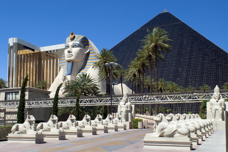kasynowi hotelowi las Luxor Nevada Vegas obraz stock