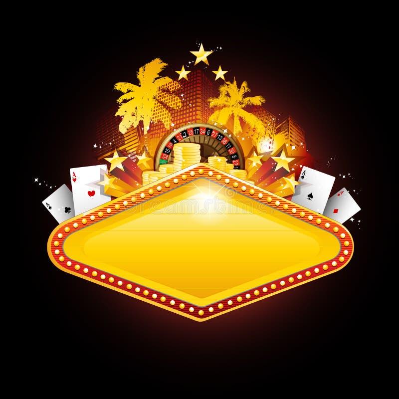 kasynowi las szyldowy Vegas ilustracji