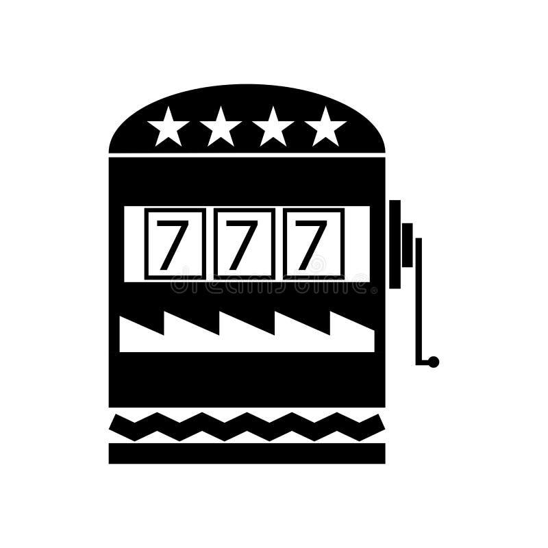 Kasynowy ikona wektoru znak i symbol odizolowywający na białym tle, Kasynowy logo pojęcie royalty ilustracja