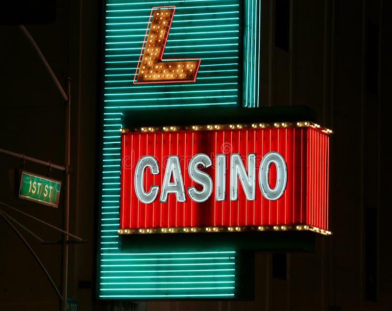 kasynowy neonowy znak obrazy royalty free
