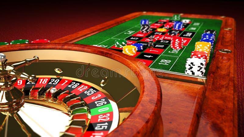 Kasynowy ruleta stół royalty ilustracja