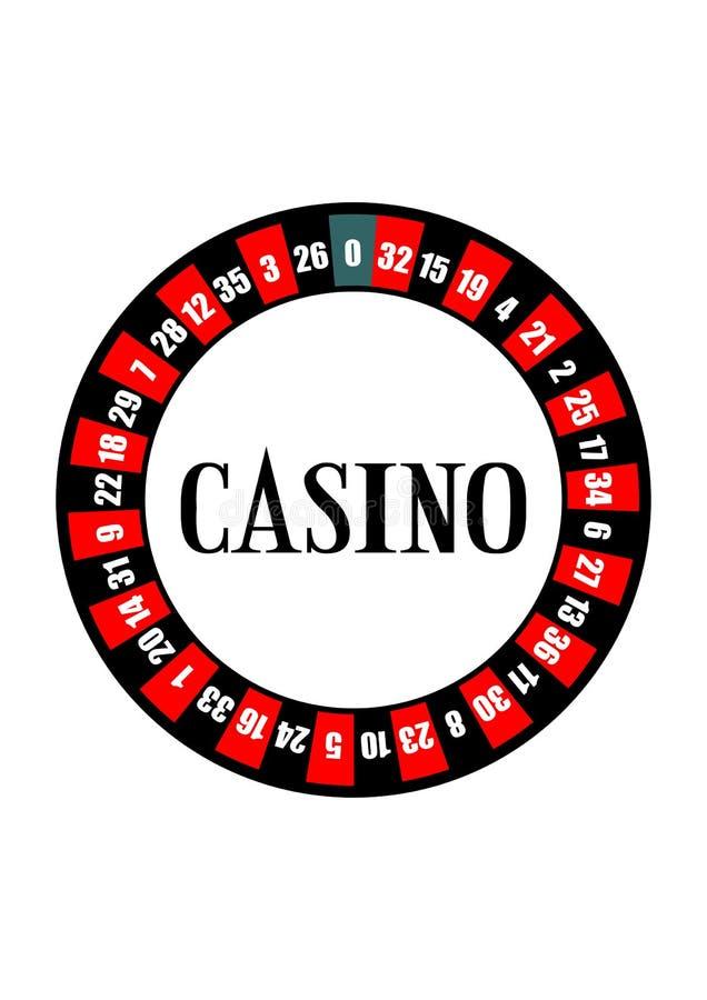 kasynowy ruletowy koło ilustracja wektor