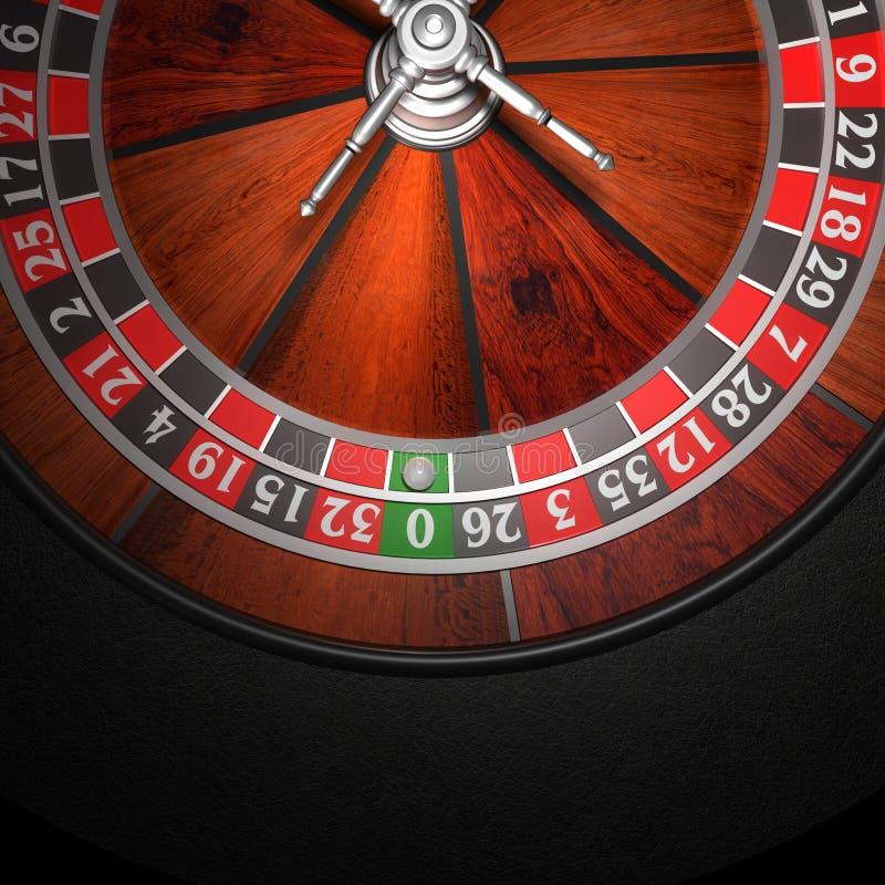 kasynowy ruletowy koło royalty ilustracja