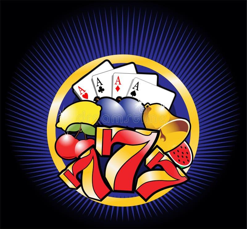 kasynowy szablon ilustracja wektor