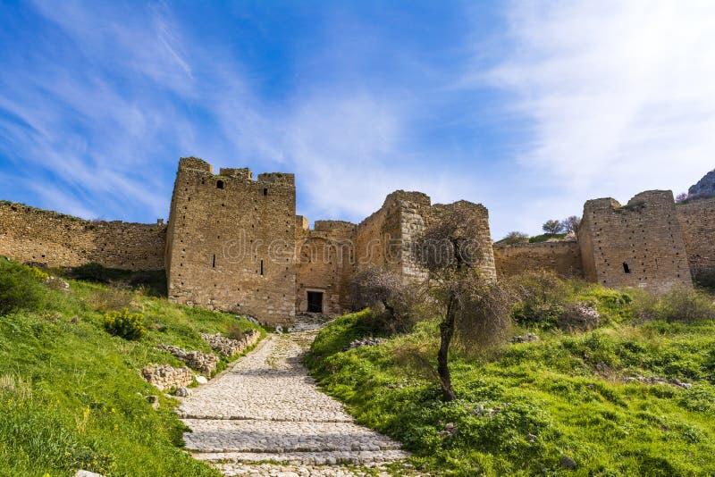 Kasztel Acrocorinth, Górny Corinth akropol antyczny Corinth zdjęcia royalty free