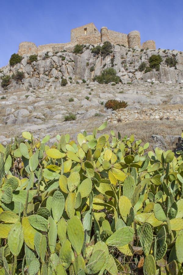 Kasztel Belmez z bonkretą, Hiszpania obrazy stock