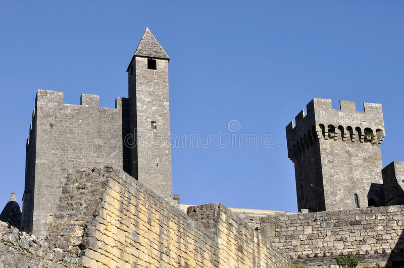 Kasztel Beynac, Dordogne, Francja zdjęcie stock