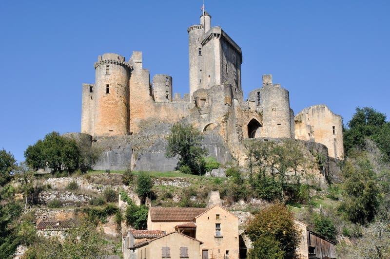 Kasztel Bonaguil, Aquitaine, Francja zdjęcia stock