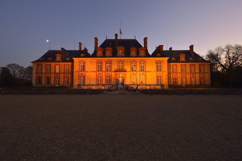 Kasztel Breteuil na przedmieściach Paryż zdjęcia royalty free