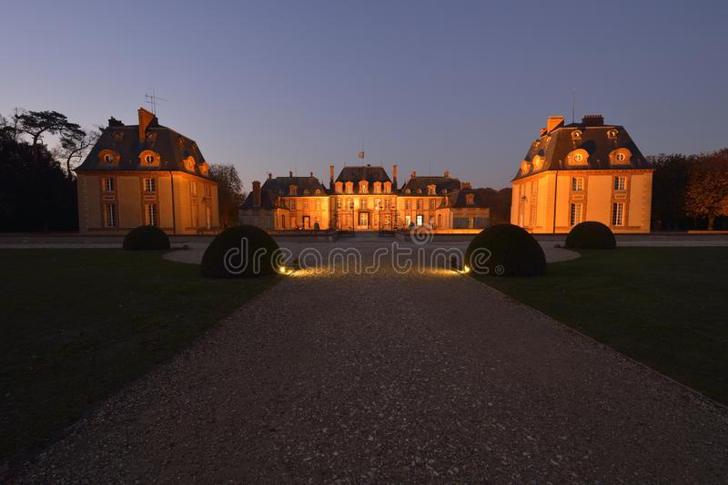 Kasztel Breteuil na przedmieściach Paryż fotografia royalty free
