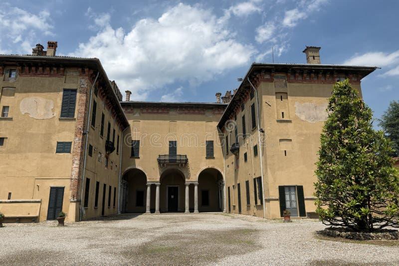 Kasztel Cislago & x28; Lombardy, Italy& x29; zdjęcia royalty free