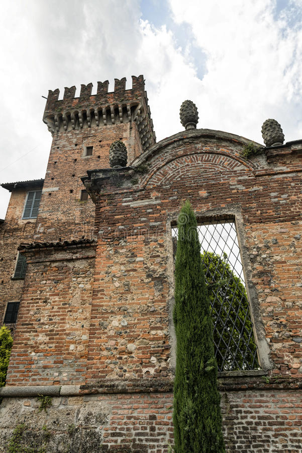 Kasztel Cislago & x28; Lombardy, Italy& x29; obraz stock