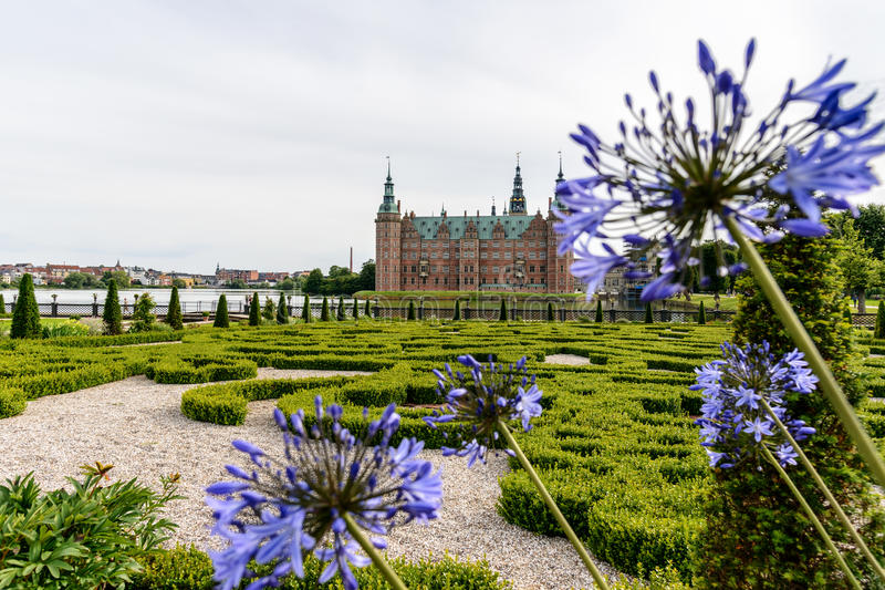 Kasztel Dani Frederiksborg obrazy stock
