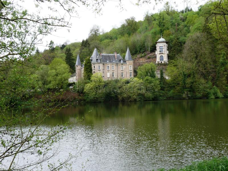 Kasztel Flie w Liverdun wydziałowym meurthe Moselle i zdjęcia royalty free