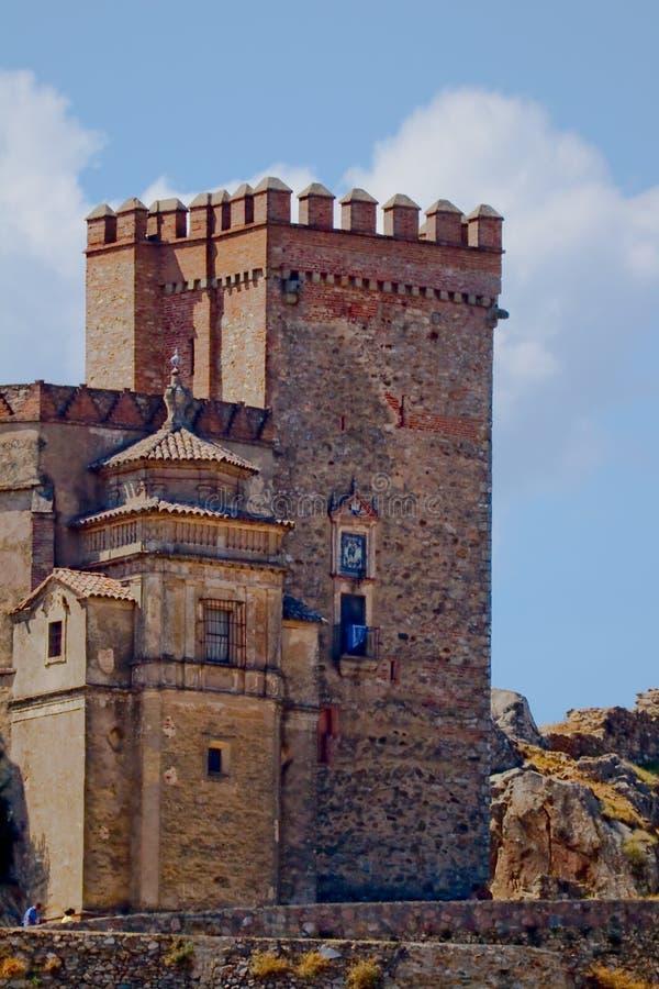 Kasztel - forteca Aracena obraz stock