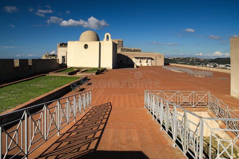 Kasztel, forteca, baia, bacoli, Italy zdjęcie stock
